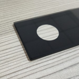 Hot 2mm 3mm 4mm Top Protective Glass with Drilled Hole for Industrial Device