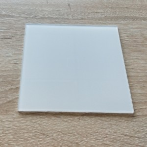 Custom White Silkscreen Tempered Decora Switch Wall Plate Glass for Sonoff Dimmer Light Switch