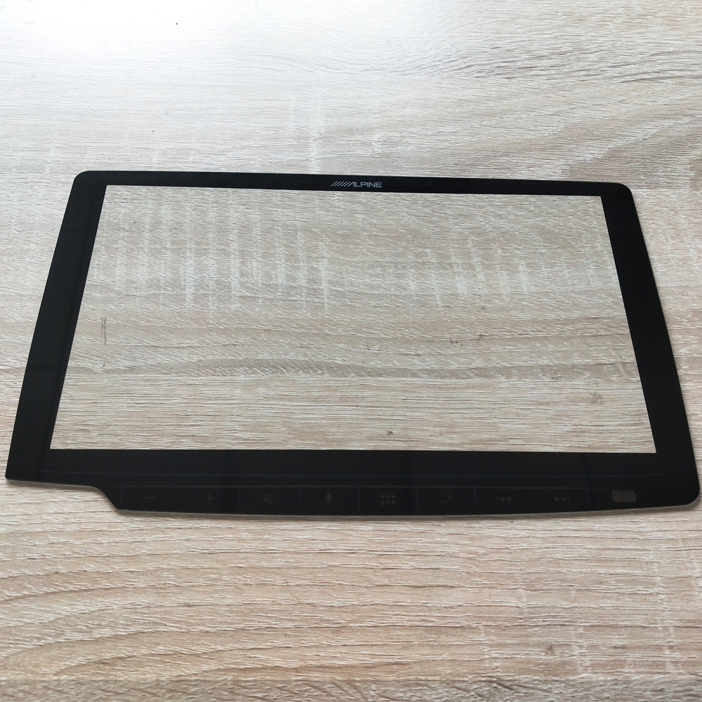 Factory Direct Supply Cut to Size 1.1mm Front Cover Glass with Irregular Shape for Car Dashboard Touch Screen Featured Image