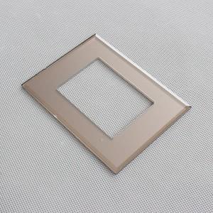 Customized 120x70x3mm Bronze Tempered Glass Switch Frame