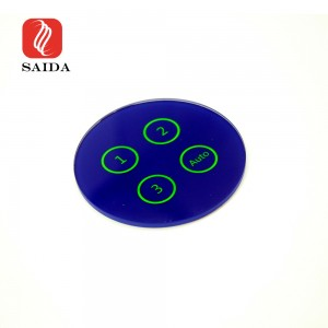 Factory Price Dia. 50mm Round Electrical Glass Panel for Smart Touch Remoter