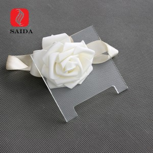 Customized 2mm Clear Socket Glass Panel with Slot for Smart Home