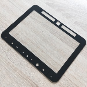 Custom 2mm Flat Glass with Notches Cover Tempered Glass for Touch Screen Display