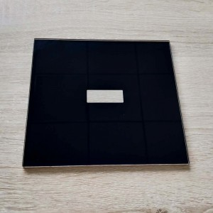 Custom 3mm Thermal Tempered Glass with Black Ceramic Firt for Bathroom Touch Sensor
