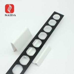 Gara sloksne 3mm 4mm 5mm sienas mazgātājs LED rūdīta stikla panelis ar melnu keramikas druku arhitektūras apgaismojumam