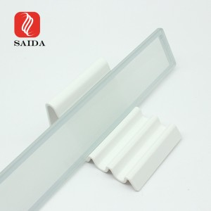 Waterproof White Printed 3mm Low Iron LED Lighting Tempered Glass Panel for Wall Washer Lighting