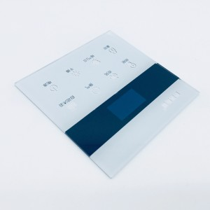 High Quality Custom Screen Printing 3MM Wall Touch Switch Tempered Glass Panel Toughened Glass