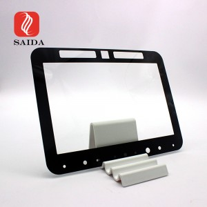 Impact Resistant 2mm Front Protective Display Cover Glass with Notches for OLED Display