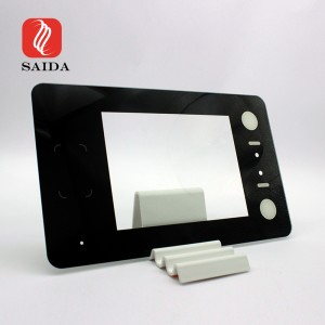 Shockproof 8inch 1.8mm Etched Anti-Glare Display Protective Chemical Tempered Glass Panel for Face Recognition Access Control