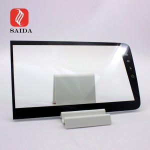 Over 7H 12inch 1.1mm Ultra Thin Silkscreen Printing Display Protective Glass for Car Dashboard