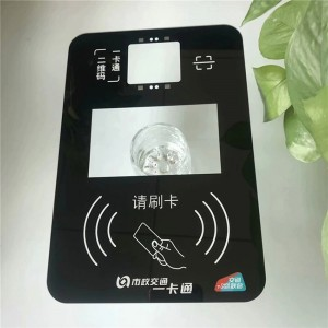 Wholesale Factory Price IK07 4mm Front Protective Glass with Ceramic Printing for Bus Card Reader Appliance