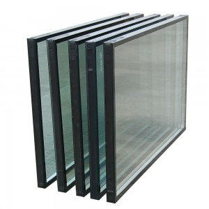 Curtain Wall Building Glass 6mm+12A+6mm Lowe Glass Construction Insulated Glass
