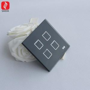 Kvalitetno prilagođeno prednje kaljeno staklo od 86x86 mm za pametni hotelski prekidač za svjetlo