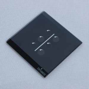 Dongguan Factory 3mm Tempered Glass Panel with Bevel Edge for Touch Switch