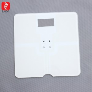 High Quality White Design Square Shape with Slot Weighting Kitchen Scale Glass