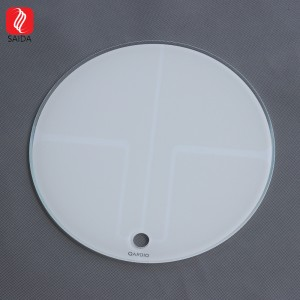 Custom Diameter 240mm 6mm ITO Patterned Glass Panel for Body Fat Scaler