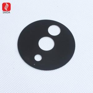 Customized Round 2mm Black Framed Tempered Glass Lens for CCTV
