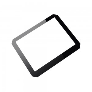 Custom Cut-Corner 1.1mm Touch Panel Cover Glass Tempered Glass for TFT Display