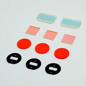 Custom 0.5/0.8/1/2mm Optial IR Fliter Glass Green/Red/Black Anti-Satic Optical Glass