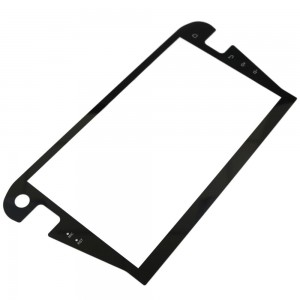 Customized 10inch 0.7mm 1.1mm Irregular Shape Front Cover Glass for Car Navigation