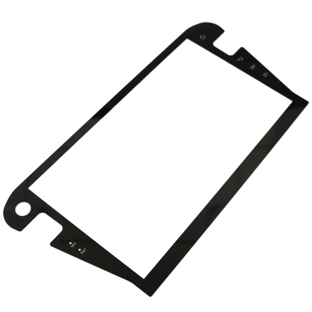 Customized 10inch 0.7mm 1.1mm Irregular Shape Front Cover Glass for Car Navigation Featured Image