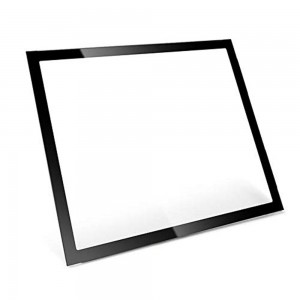 Custom Black Printed Cover Glass with Anti-Glare Coating for TFT Display Screen