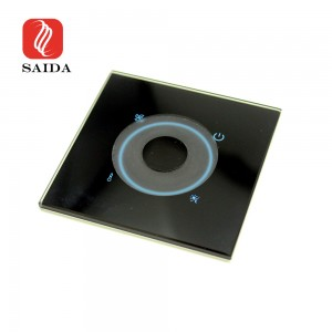 Custom Wall Light Crystal Clear Switch 2mm 3mm 4mm Tempered Glass with Milling Slot