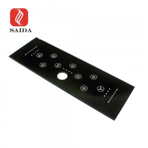 High Quality 3mm Home Controller Glass Panel with Concave Push Bottom