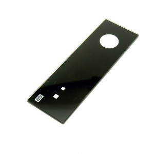 2021 Hot 3mm Toughened Glass with Black Silkscreen Printing for Smart Security Door