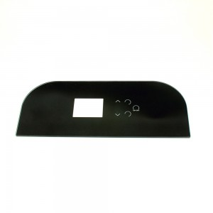 Custom 3mm Fan-shaped Electrical Glass Panel with Black Ceramic Silkscreen Printing