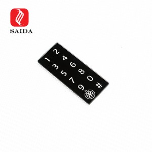 Custom Square Round 1mm 2mm Tempered Glass for Smart Lock Access Control