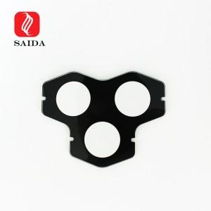 Customzied 3mm 4mm 5mm Black Ceramic Silkscreen Printing Toughened Glass for Architectual Lighting