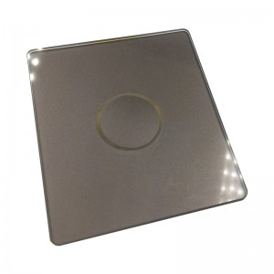 Customized Concave Switch Glass Panel Wall Light Touch Glass for Smart Automation