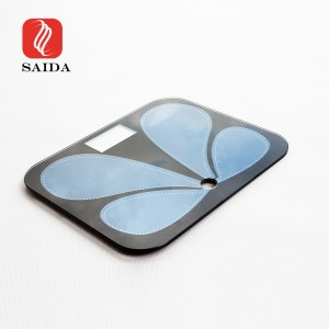 Dongguan Factory Shock Resistant IK08 6mm Weight Scale Tempered Glass with Etched ITO Pattern