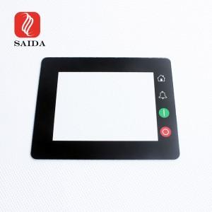 Prilagođeno staklo zaštitnog zaslona dodirnog zaslona LCD zaslona od 3 mm protiv zasljepljenja s otiskom na svilenom ekranu