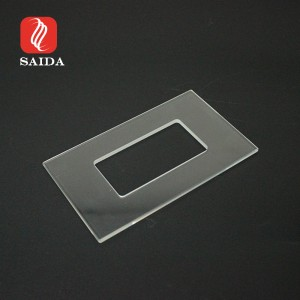 Ultra Clear Card Reader Switch Tempered Glass Panel Hotel Security Gurad Front Glass Plate