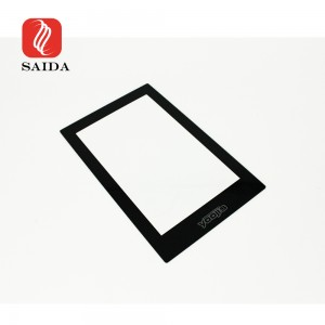 Custom 0.7mm 1.1mm Corning Gorilla Glass Black Display Glass Window for 12.5inch Touchpad