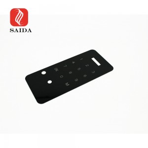 Durable 1.1mm Ultra Thin Black Silkscreen Printing Glass Panel with Cut-offs for Smart Door