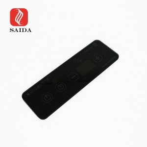 Dongguan Glass Factory 4mm Black Silkscreen Tempered Glass with Black Translucent Window for Induction Hobs