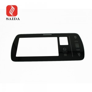 China Factory Display Touch Panel 3mm Thermal Tempered Cover Glass with Black Silkscreen Printing