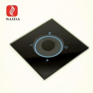 Prilagođena kristalno bistra sklopka za zidno svjetlo 2 mm 3 mm 4 mm kaljeno staklo s utorom za glodanje