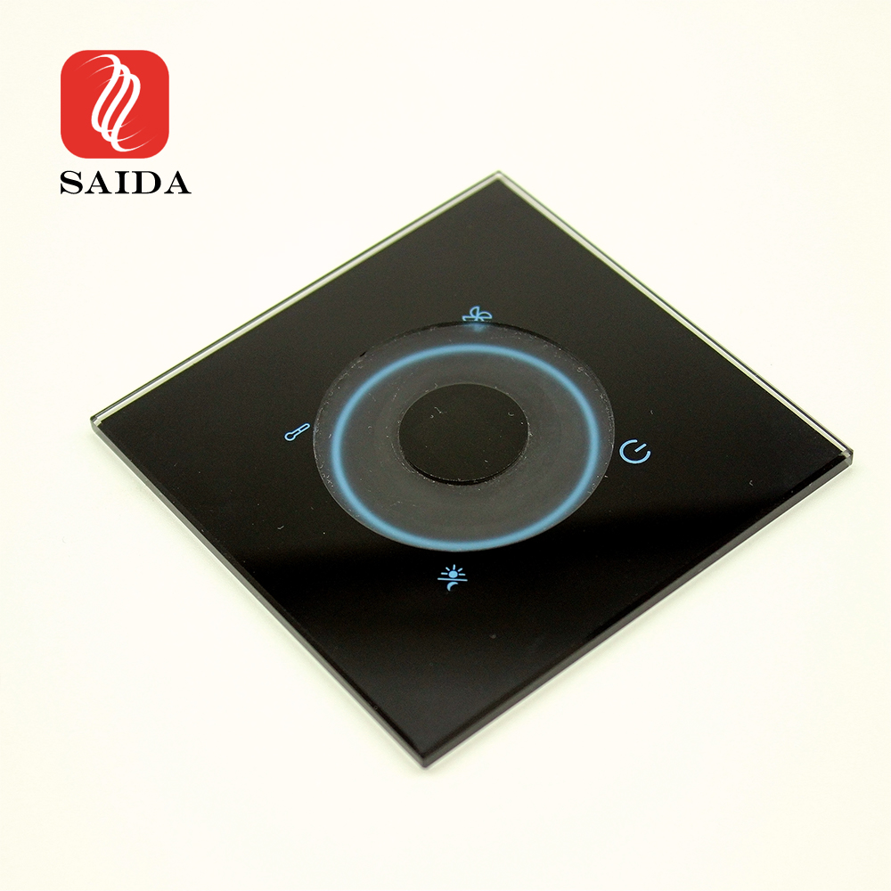 Custom Wall Light Crystal Clear Switch 2mm 3mm 4mm Tempered Glass with Milling Slot Featured Image