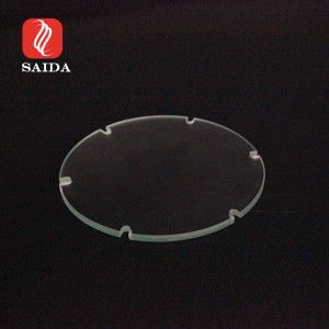 Custom Clear Irregular Glass 3mm Toughened Glass Panel with Slots for Touch Panel