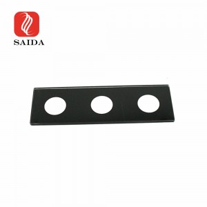 OEM 3mm Flat Ultra Clear Glass Black Silkscreen Printing Toughened Glass Panel for Outdoor Lighting