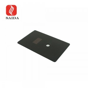 Glass Factory Light Touch Crystal Clear Switch Tempered Glass with Hiden Window for Hotel Door Plate