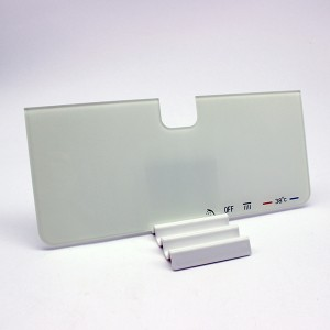 OEM Toughened Glass Panel with White Ceramic Printing for Bathroom