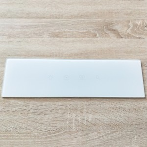 Factory Price Saida Glass 3mm UV Resistant White Painted Cover Glass Panel for Home Kitchen Appliance
