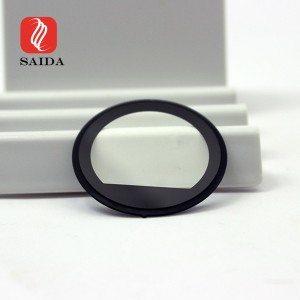 Ultra Thin 1.1mm Round Smart Wearable Watch Glass with Customized Step Edge