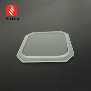 Customized Super Clear 6mm Irregular Toughened Step Glass LED Light Cover Glass