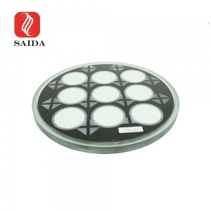 Top Quality 12mm Round Light Cover Shade Step Toughened Glass for Stage Lighting